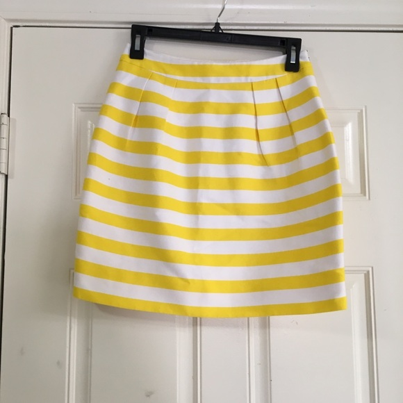 bc69bf0600 kate spade Skirts | Yellow White Striped Skirt Size 0 | Poshmark